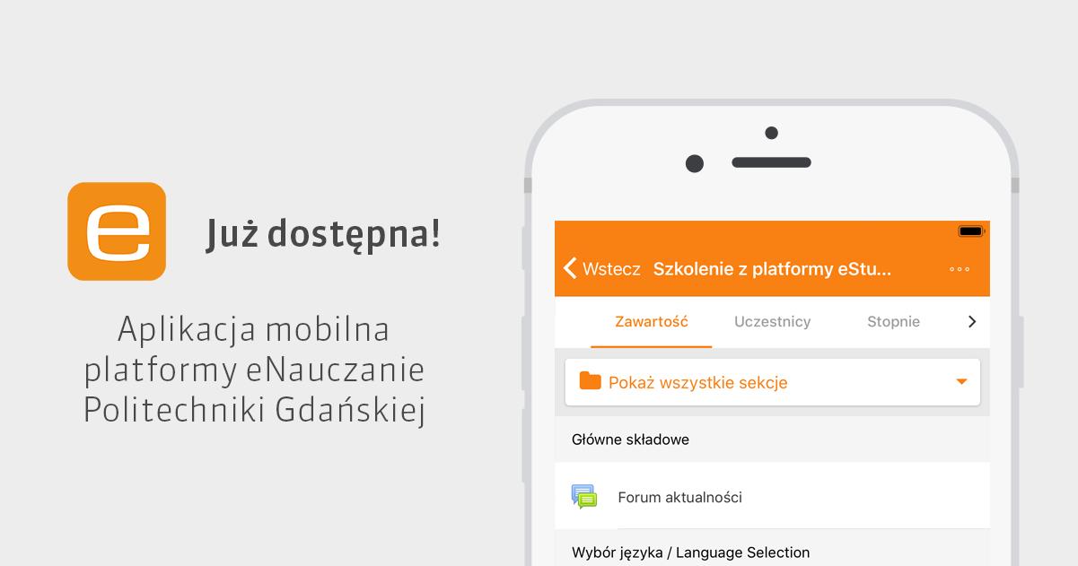 eNauczanie PG - aplikacja mobilna dostępna na systemy Android i iOS