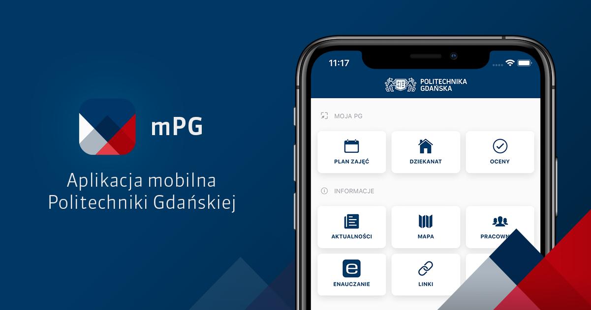 mPG - aplikacja mobilna Politechniki Gdańskiej dostępna na systemy Android i iOS