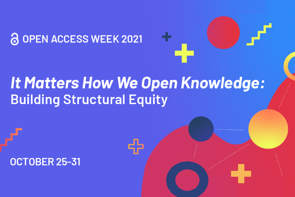 plakat zapowiadający Open Access Week 2021