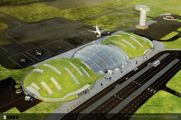 Wizualizacja lotniska Topolany