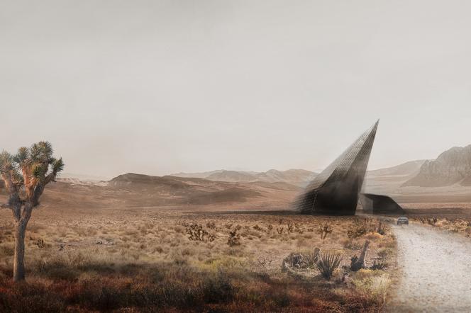 Wizualizacja projektu Hyperloop Desert Campus studentów PG