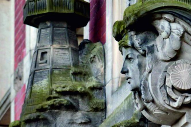 Historyczne rzeźby na murach Politechniki