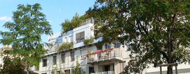 Budynek wśród zieleni