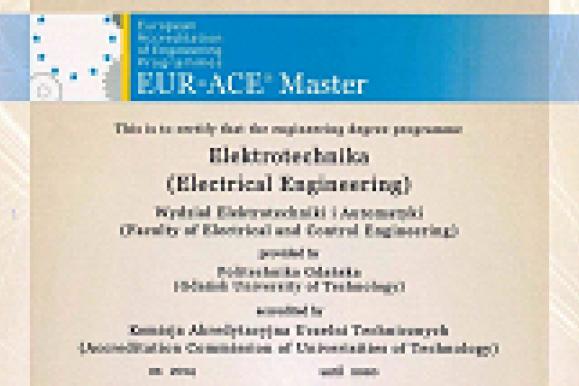 Certyfikat EUR-ACE Master