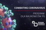 Infografika przedstawiająca cząsteczki wirusa Covid 19
