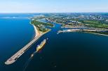 Widok na port w Gdańsku z lotu ptaka