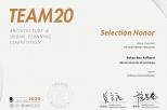 Na zdjęciu znajduje się dyplom, który otrzymała mgr inż. arch. Bahaa Bou Kalfouny w konkursie TEAM20.