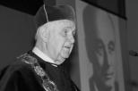 Na zdj. prof. Wacław Szybalski podczas uroczystości nadania tytułu i godności honoris causa Politechniki Gdańskiej