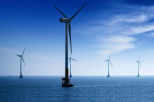 in the photo offshore wind farm