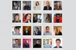 grafika jest kompilacją zdjęć 20 z 25 laureatów stypendium (portrety)