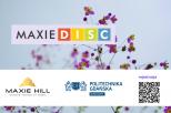 Na zdjęciu znajdują się trzy loga: Biura Karier, Maxie DISC, Maxie Hill
