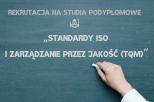 Grafika z napisem Standardy ISO
