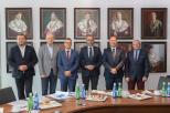 Rektorzy w Sali Senatu UG