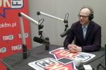 Na zdjęciu dr hab. inż. Piotr Szczuko, prof. uczelni w studiu TOK FM