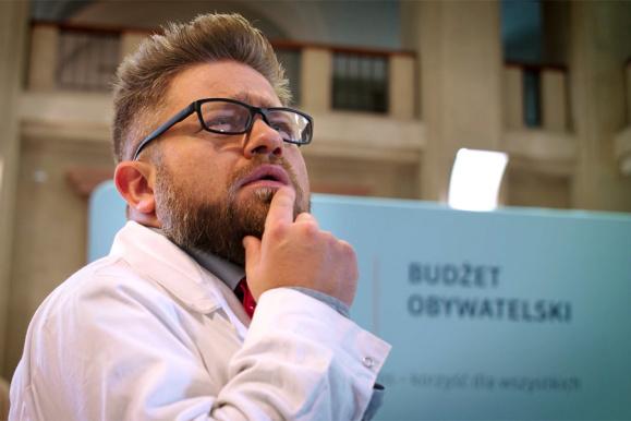 screen z filmu promującego budżet obywatelski Politechniki Gdańskiej