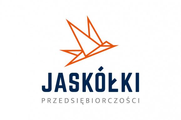 logotyp konkursu Jaskółki Przedsiębiorczości