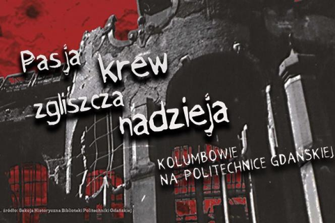 plakat reklamujący wystawę Pasja-krew-zgliszcza-nadzieja