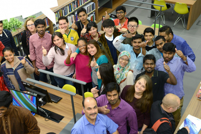 International students at GUT