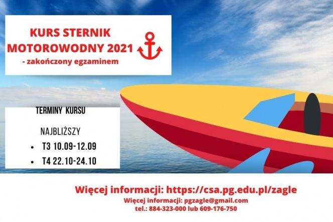 Sekcja Żeglarska PG zaprasza na kurs na patent sternika motorowodnego. Zapisz się!