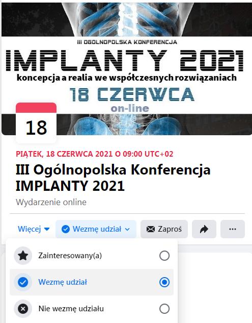 Facebook implanty