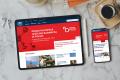 tablet i telefon z widokiem nowej witryny głównej Politechniki Gdańskiej