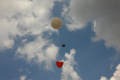 A baloon in the sky